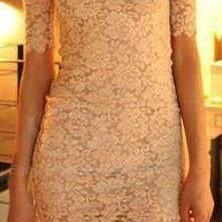 CUTE LACE ONE WORD NICE DRESS
