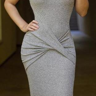 SEXY BELT SLEEVELESS VEST DRESS