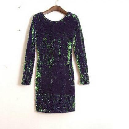 HOT GREEN SHINING SEQUINS SHINING L..