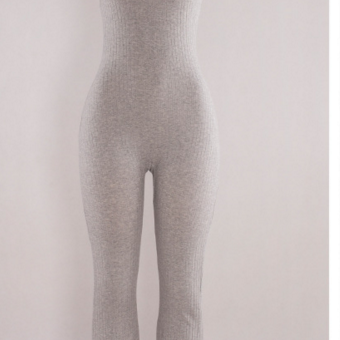 HOT GREY BACKLESS JUMPSUIT
