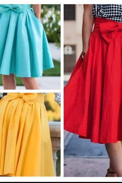 Three color bowknot skirts