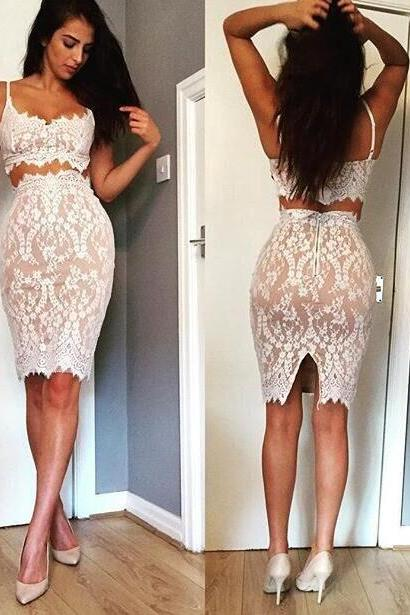 CUTE SEXY LACE TWO PIECE DRESS